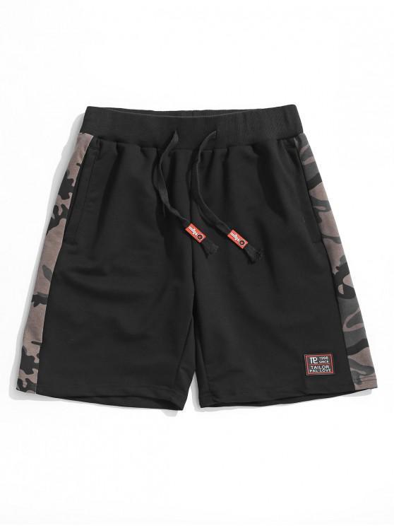 Camo Scrisoare model Cordon Pantaloni scurți - Negru L