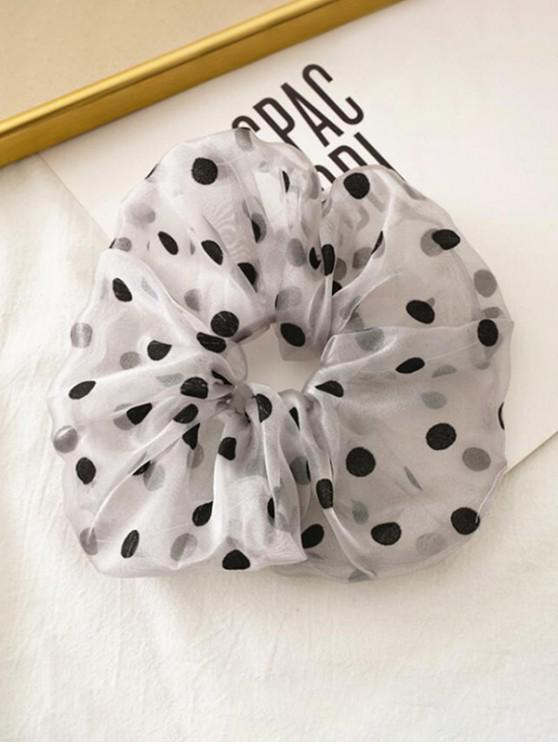 outfits Dots Pattern Gauze Fabric Scrunchy - GRAY