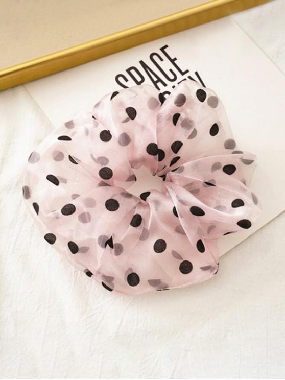 latest Dots Pattern Gauze Fabric Scrunchy - PINK