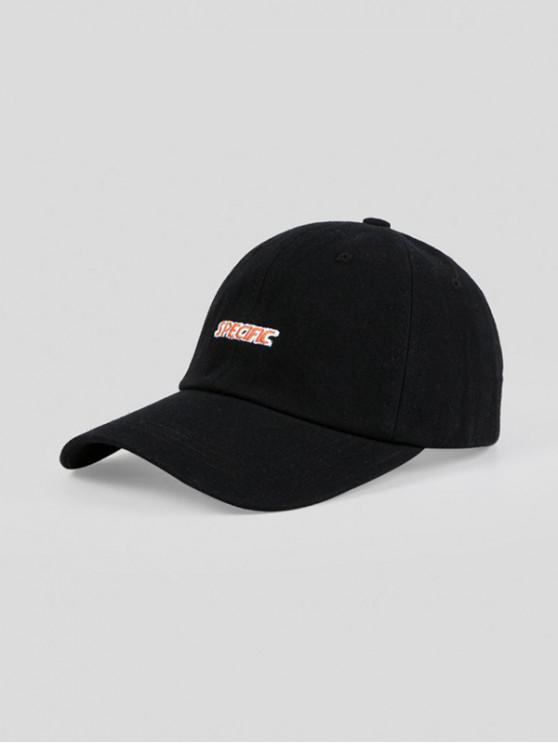 Cappello da Baseball Ricamato a Lettere - Nero Regolabile
