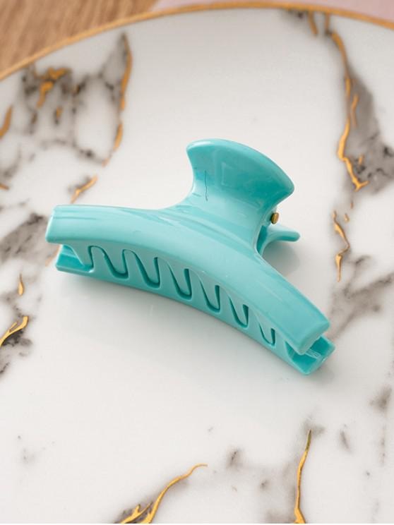 Chic Solid Color Design Hair Claw - فيروز