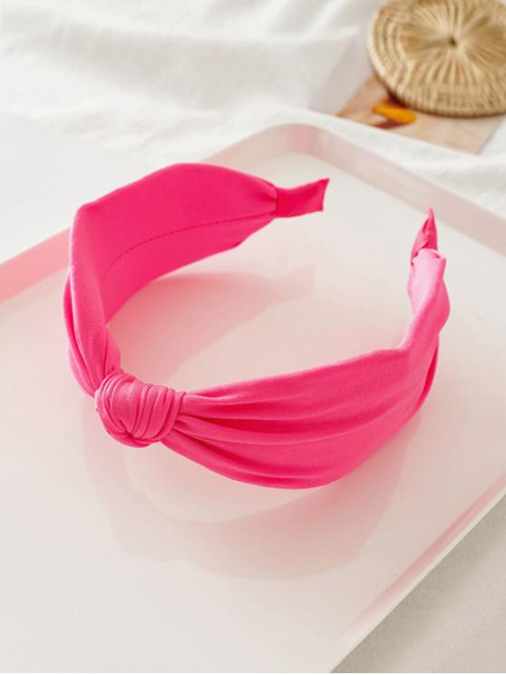 buy Knot Neon Color Wide Hairband - ROSE RED