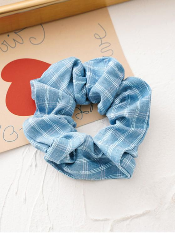 outfits Plaid Print Retro Fabric Scrunchy - BLUE