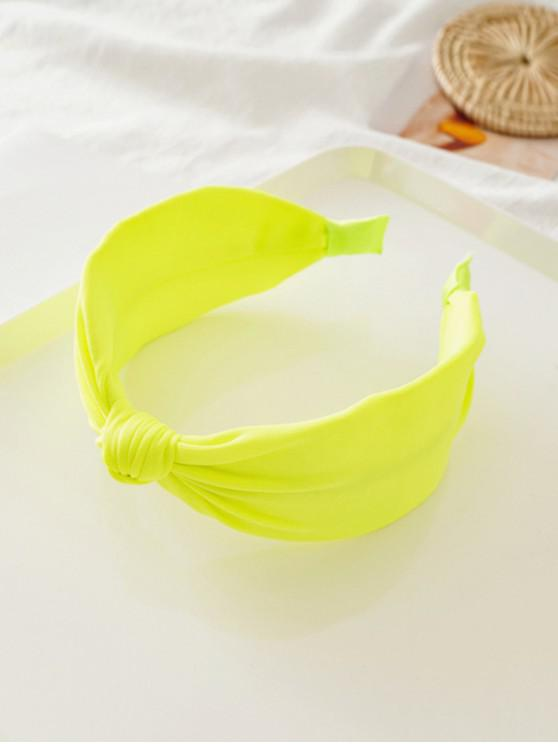 Nodul Neon Wide Color hairband - Galben