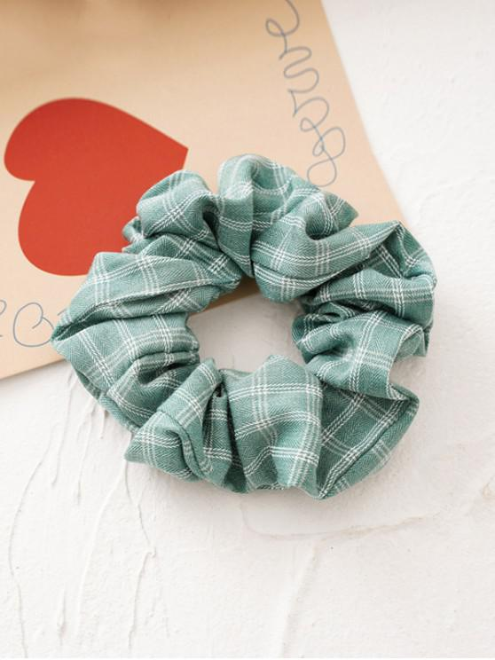 latest Plaid Print Retro Fabric Scrunchy - GREEN