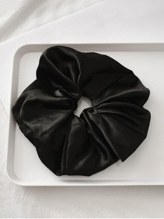 women Satin Elastic Fabric Scrunchy - BLACK