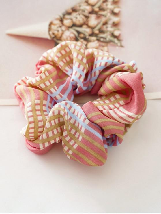 hot Check Pattern Stretch Hair Scrunchy - PINK
