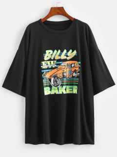 T-shirtBillyBakerGraphiqueSurdimensionné - Noir L