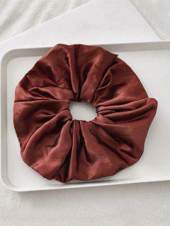 Satin Elastic Fabric Scrunchy - Cherry Red
