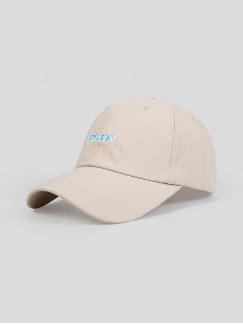Cappello da Baseball Ricamato a Lettere - bianco di cream Regolabile Mobile