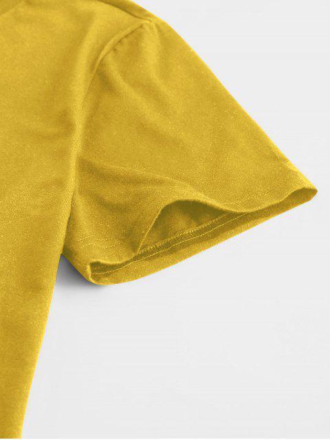 ZAFUL ZAFULMock-Camiseta Básica - Amarelo 2XL Mobile