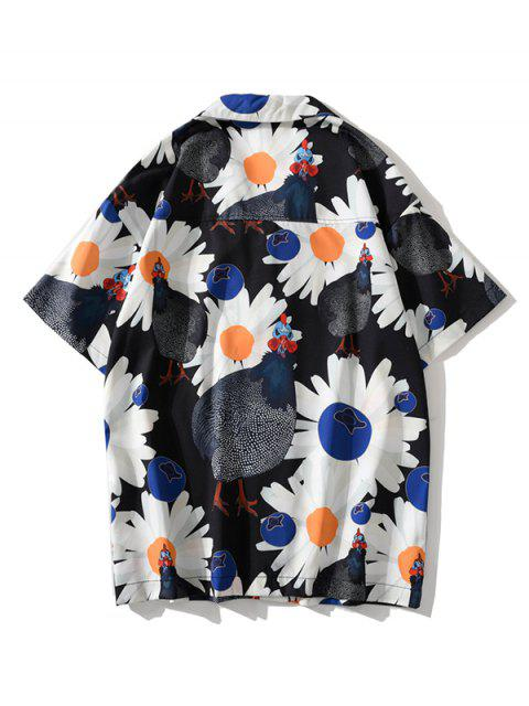 chic Daisy Chook Graphic Pattern Shirt - BLACK L Mobile
