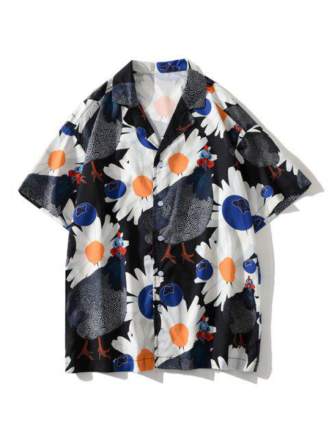 fancy Daisy Chook Graphic Pattern Shirt - BLACK XL Mobile
