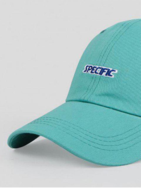 Cappello da Baseball Ricamato a Lettere - Blu Corallini  Regolabile Mobile