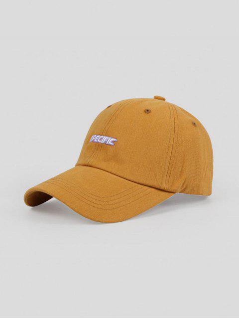 Cappello da Baseball Ricamato a Lettere - Giallo d'oro Regolabile Mobile
