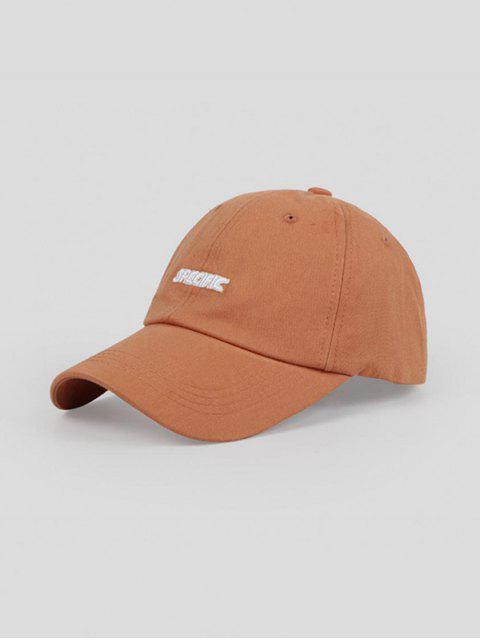 Cappello da Baseball Ricamato a Lettere - Caramello Regolabile Mobile