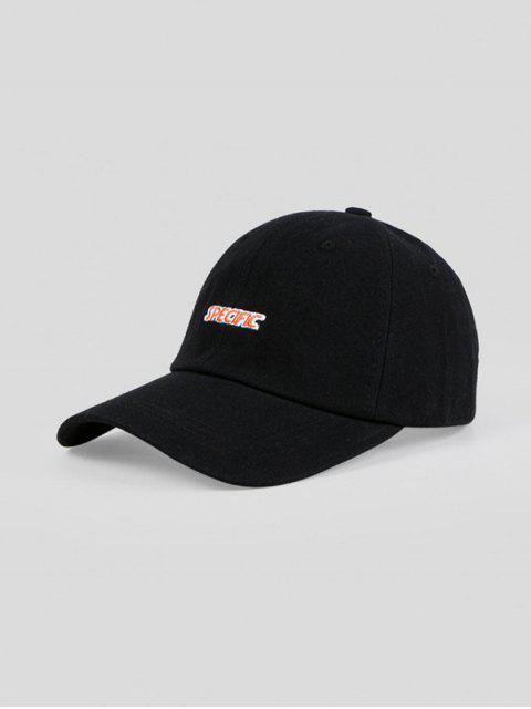 Cappello da Baseball Ricamato a Lettere - Nero Regolabile Mobile