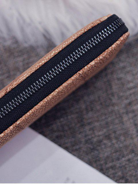 Retro Strukturierte Reißverschluss Kupplung - Orange Rosa  Mobile