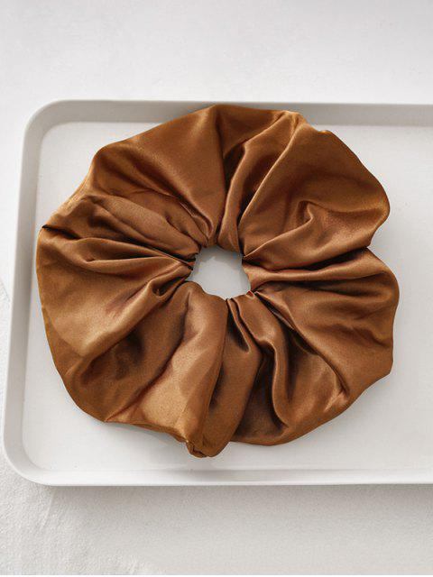 affordable Satin Elastic Fabric Scrunchy - LIGHT BROWN  Mobile