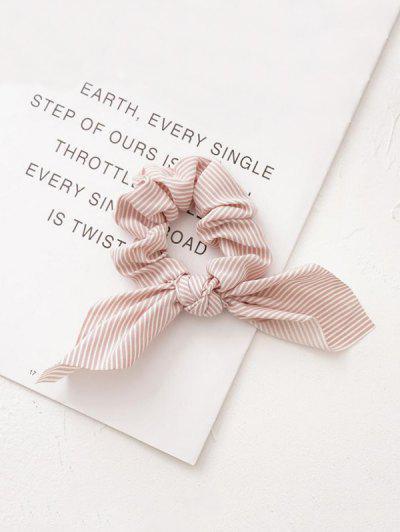 Bunny Ear Striped Elastic Scrunchie - Pink