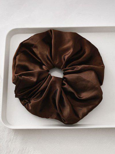 Satin Elastic Fabric Scrunchy - Deep Coffee