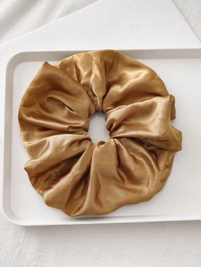 Satin Elastic Fabric Scrunchy - Coffee