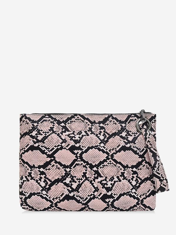 Snakeskin Pattern Zipper Wristlet