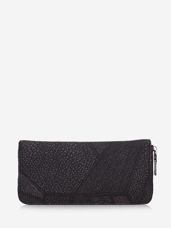 Retro Textured Zipper Clutch Bag