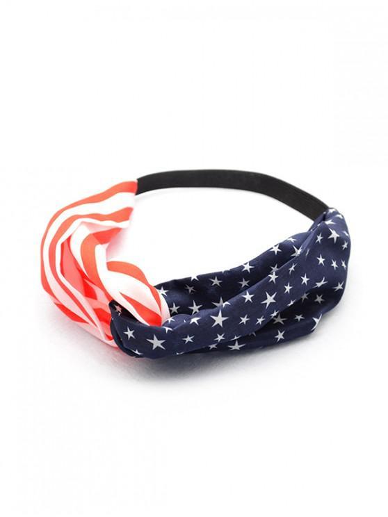 Flag Pattern Elastic Chiffon Headband - متعددة-A
