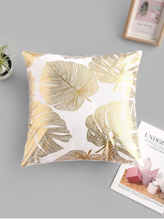 unique Geometric Leaf Bronzing Pattern Sofa Cushion Pillowcase - MULTI-A