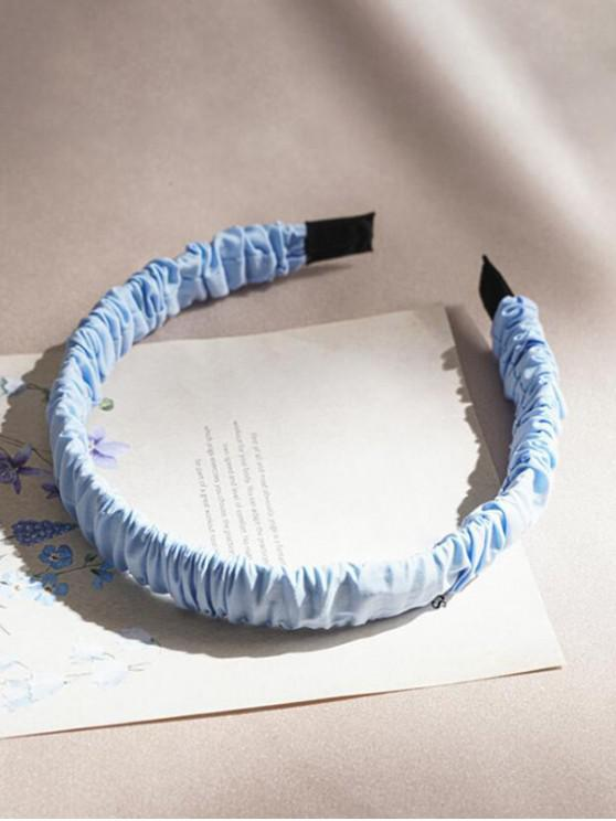 outfits Candy-colored Ruched Fabric Hairband - LIGHT BLUE