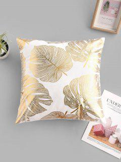 Geometric Leaf Bronzing Pattern Sofa Cushion Pillowcase - Multi-a