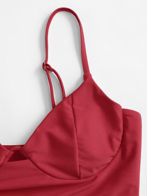 Costume da Bagno Tankini di ZAFUL con Ferretto - Rosso L Mobile