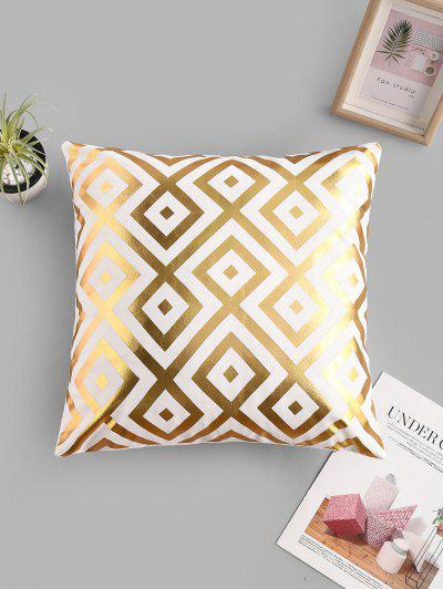 Geometric Leaf Bronzing Pattern Sofa Cushion Pillowcase - Multi-b