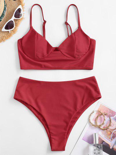 ZAFUL Underwire Tankini Swimwear - Red Xl
