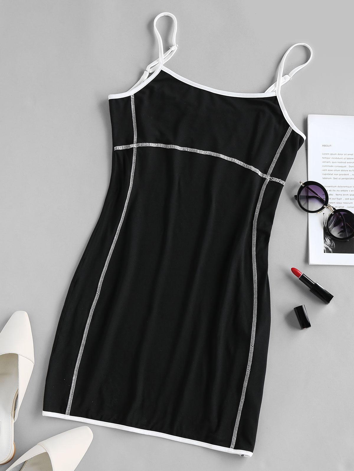 ZAFUL Stitching Mini Bodycon  Dress