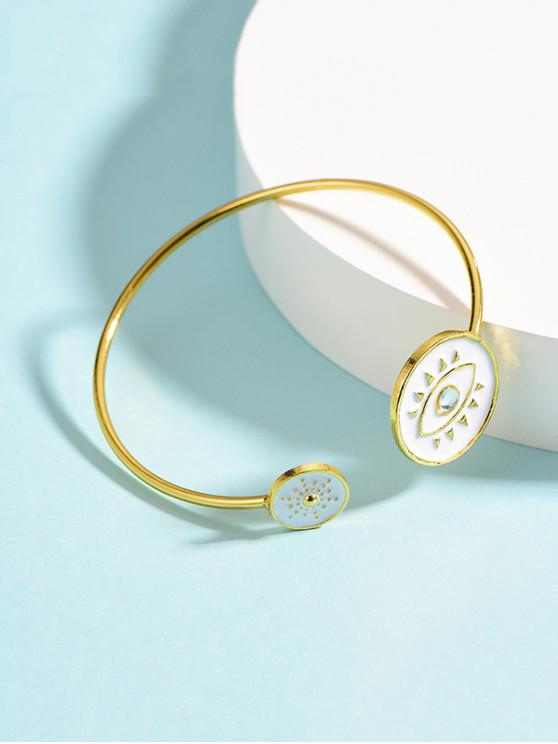outfit Evil Eye Cuff Bracelets - WHITE