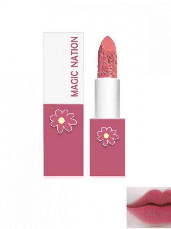 womens Matte Daisy Cat Engraved Moisturizing Lipstick - PURPLE
