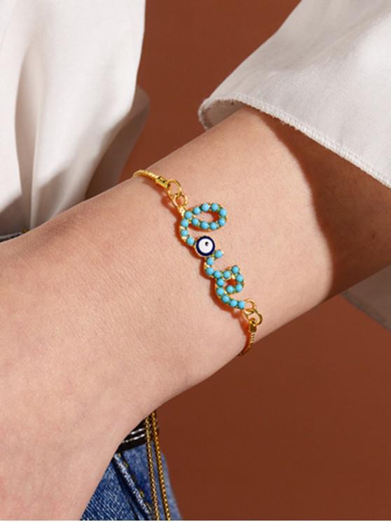 affordable Evil Eye Love Adjustable Bracelets - GOLD