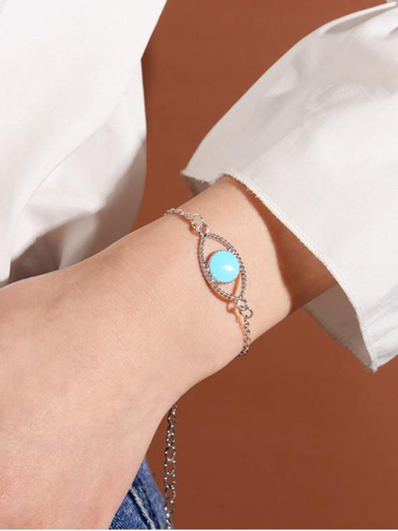 outfits Hollow Out Evil Eye Chain Bracelets - SILVER