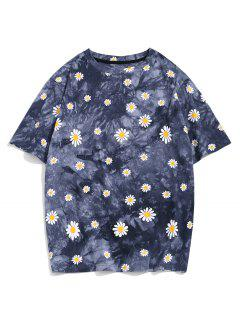 ZAFUL Daisy Tie Dye Short Sleeve T-shirt - Multi-a 2xl
