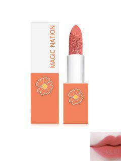 Matte Daisy Cat Engraved Moisturizing Lipstick - Orange