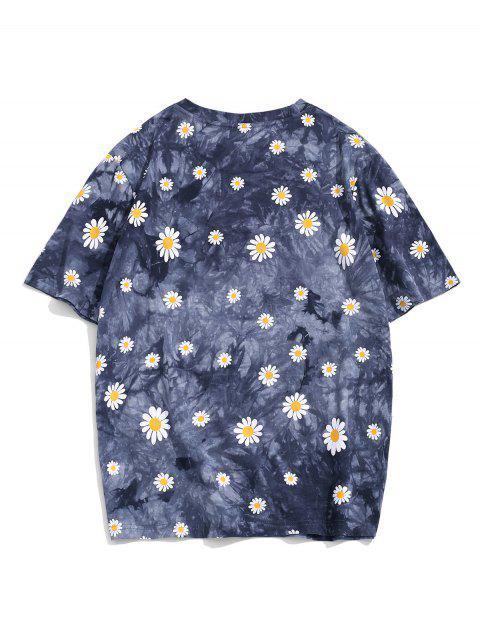 ZAFUL Daisy Tie Dye Short Sleeve T-shirt - متعددة-A 2XL Mobile