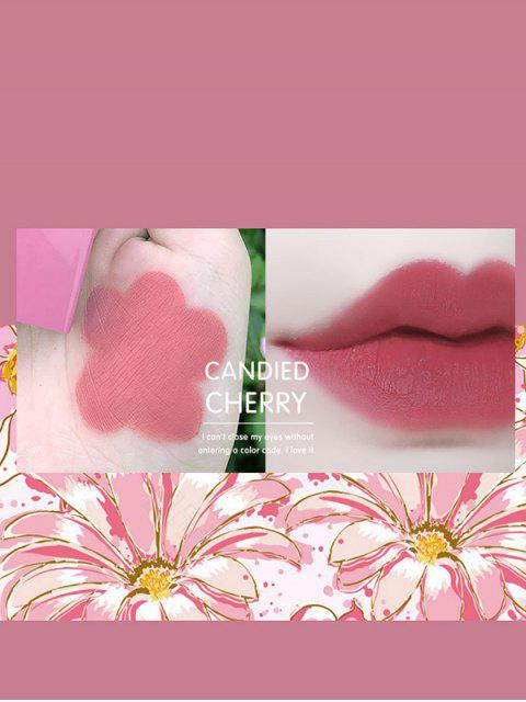 Matte Daisy Cat Engraved Moisturizing Lipstick - Lila  Mobile
