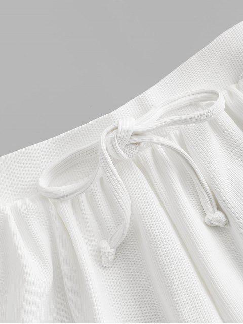 ZAFUL laço com Nervuras Sunga - Branco S Mobile