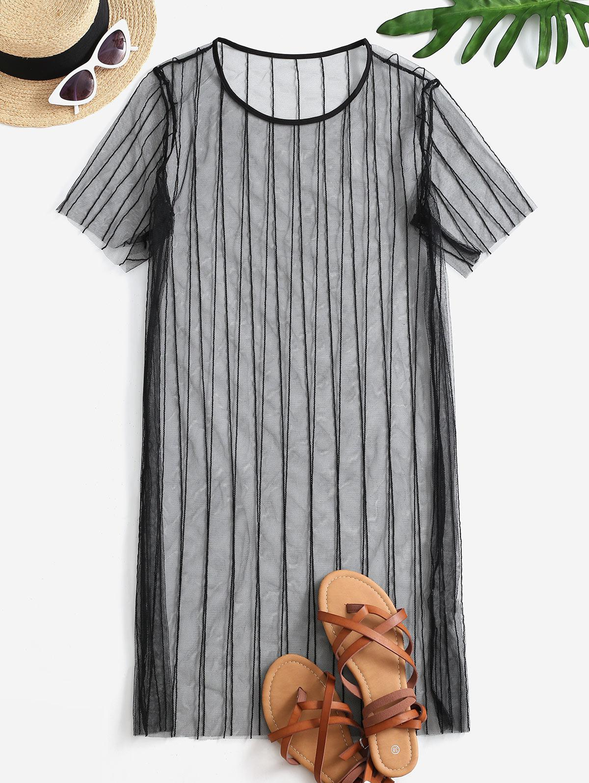 See Thru Mesh Cover-up Dress
