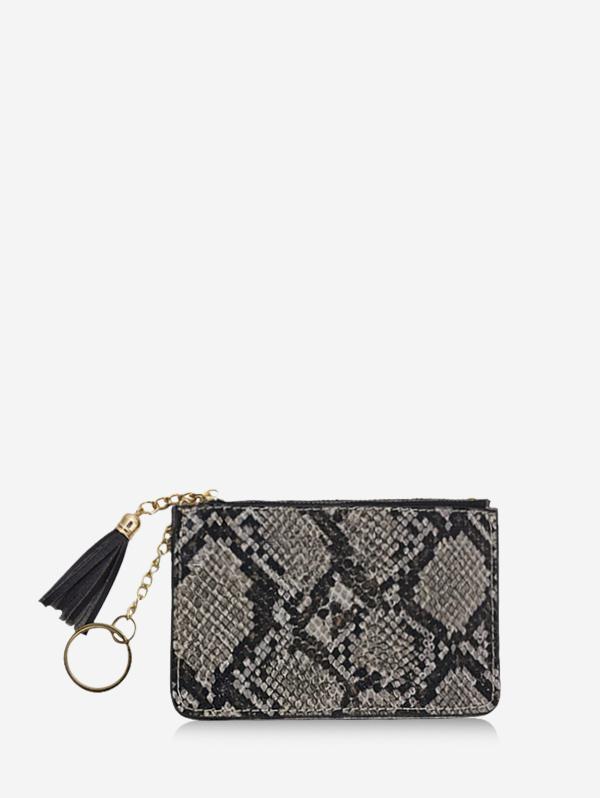 Snakeskin Pattern Tassel Clutch Wallet