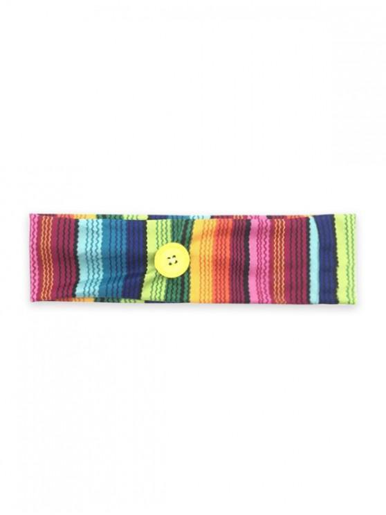 unique Sports Yoga Button Knitted Headband - MULTI-A