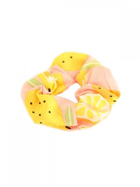 Fruit Print Chiffon Fabric Elastic Scrunchy - متعددة C