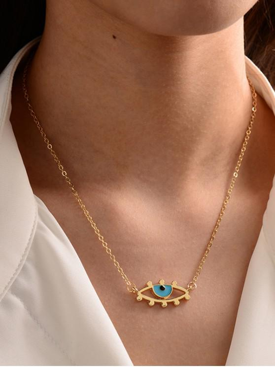 best Eye Shape Chain Pendant Necklace - GOLDEN EYE-A